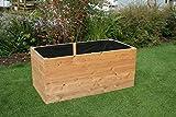 Gartenwelt Riegelsberger Hochbeet aus Lärchenholz 160 x 80 x H44 cm, 20 mm Bretter, Gemüsebeet