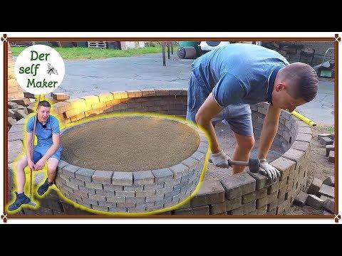 Hochbeet selber bauen/ Hochbeet aus Stein selber bauen/ Hochbeet im Garten anlegen